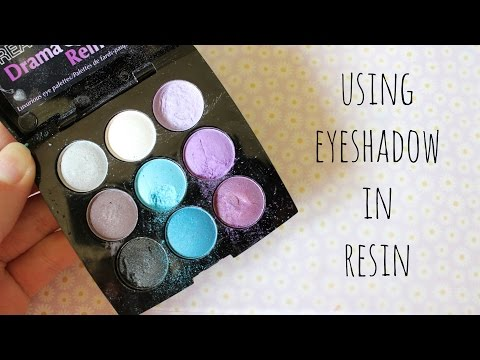 Using eyeshadow in Resin (Demo & tips)