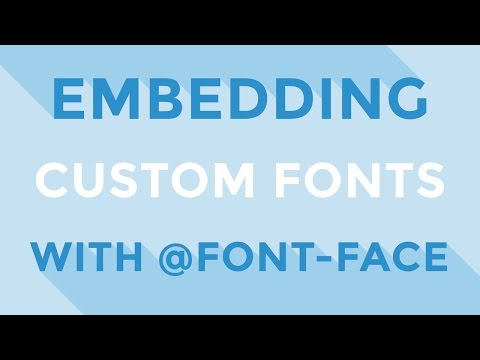HTML & CSS : Embedding custom fonts with @font-face