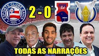 Todas as narrações - Bahia 2 x 0 Paraná / Brasileirão 2018