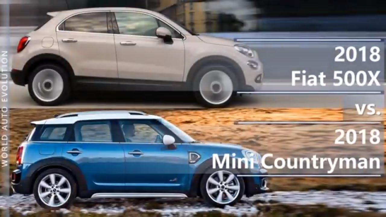 2018 Fiat 500x Vs Mini Countryman Technical Comparison