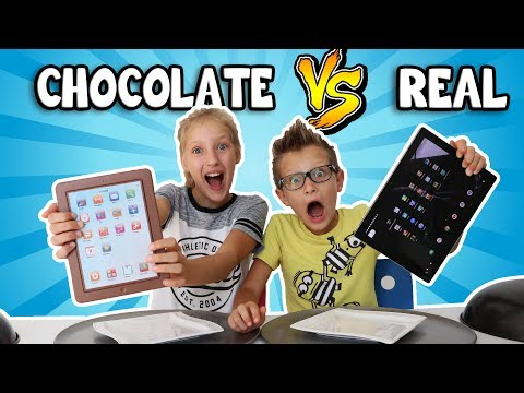CHOCOLATE vs REAL!!!!!