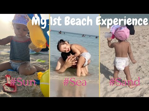 My First Beach Experience | Burj Al Arab View | Umm Suqeim Beach | Mom Tuber