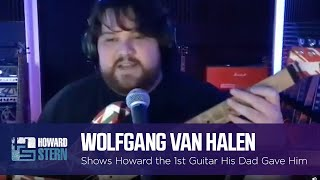 Wolfgang Van Halen Shows the First Guitar His Dad Gave Him