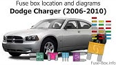 Fuse Box Location And Diagrams Dodge Charger 2011 2019 Youtube
