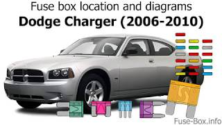 Fuse box location and diagrams: Dodge Charger (2006-2010) - YouTubeYouTube