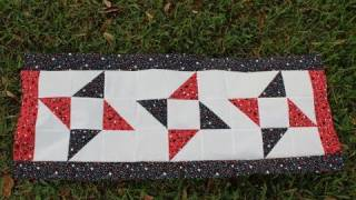 How To Make A Fourth Of July Table Runner Quilt Top