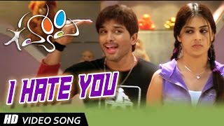I Hate You Full Video Song || Happy Movie || Allu Arjun, Genelia