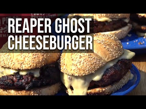 Reaper Ghost Cheese Burger recipe by the BBQ Pit Boys