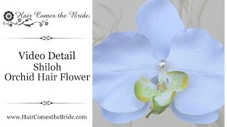 Orchid Bridal Hair Flower by Hair Comes the Bride - Shiloh White and Green