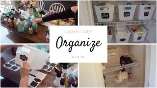 ORGANIZE WITH ME || CLEANING PRODUCTS || MOTIVATION AND INSPIRATION