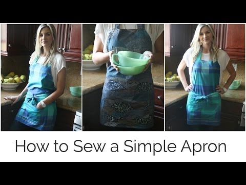 How to Sew a Simple Apron - YouTube