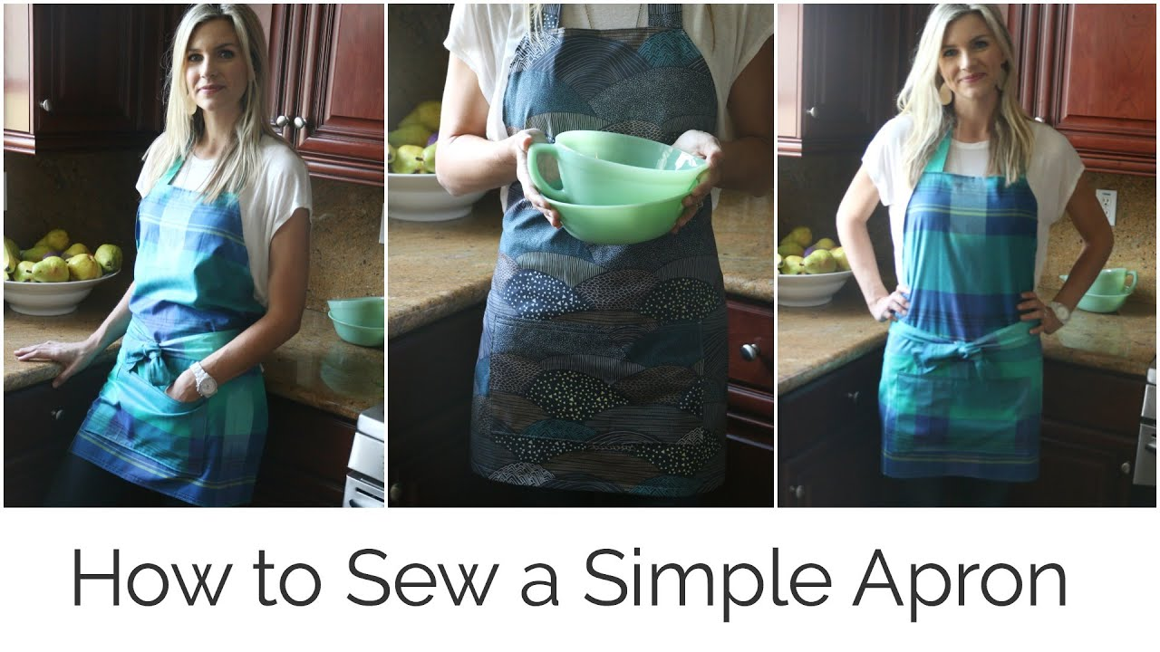 How To Sew A Simple Apron Youtube