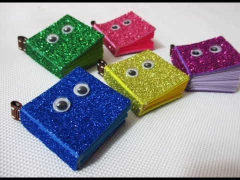 DIY #193 | Glitter mini NOTEBOOK with Cute Eyes ❤