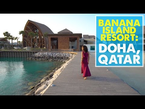 LUXURY LAYOVER IN QATAR! Anantara Banana Island Resort Doha