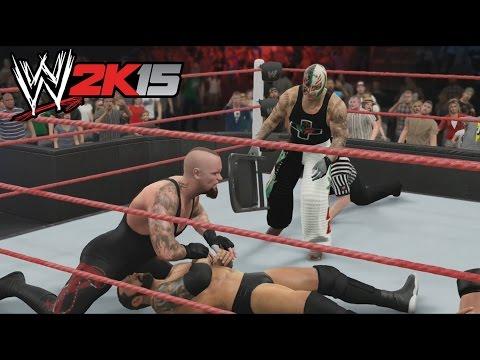 WWE 2K15 Gameplay en PS4 - Reglas Extremas - Combate Epico, No sirve el Sillazo salvador!!!