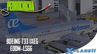 [X Plane 11]  BOEING 733 IXEG  AIREUROPA  DE CAMINO A GINEBRA  DESDE MUNICH  EN ESPAÑOL