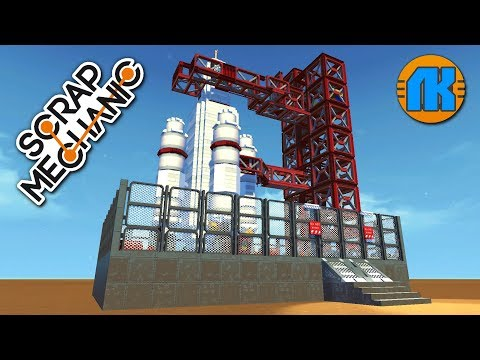 COOL A ROCKET LAUNCH SITE WITH \ GAME Scrap Mechanic \ FREE DOWNLOAD \ СКАЧАТЬ СКРАП МЕХАНИК !!!