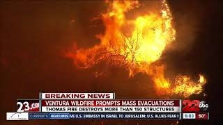 Thomas Fire in Ventura destroys more than 150 structures