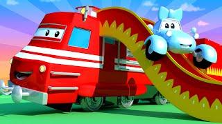 Поезд Трой -  Спецвыпуск снова в школу: Поезд Трой - Детская площадка - детский мультфильм