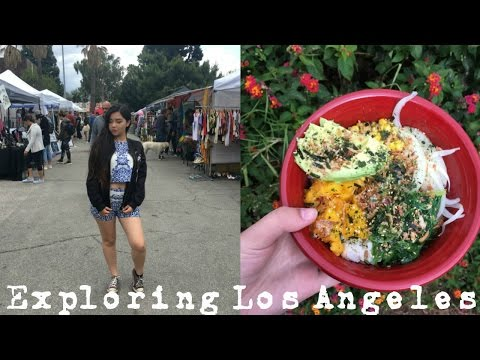 ☾ Exploring the Melrose Trading Post + AMAZING VEGAN FOOD  ☾