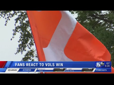 Fans react to Vols win