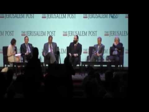 Adam Milstein on panel at Jerusalem Post Conference 2016