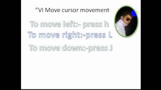 cursor movement in vi editor