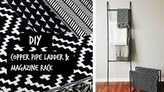 DIY Copper Pipe Ladder & Magazine Rack | Rescue My Space