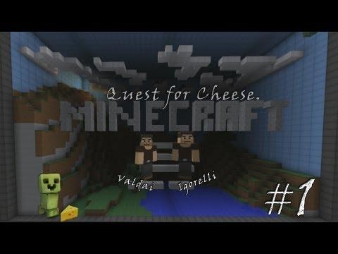 Смотреть прохождение игры Minecraft Quest for Cheese. Серия 1 - Огромный мир, или маленькие мы.