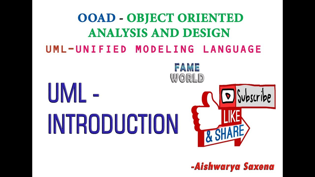 Lecture 1 uml introduction unified modeling language youtube lecture 1 uml introduction unified modeling language ccuart Gallery