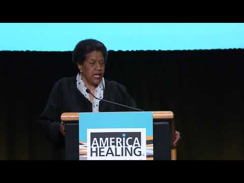 Myrlie Evers-Williams delivers invocation at 2013 America Healing Conference