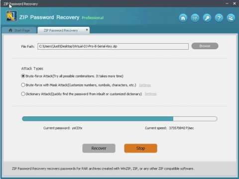 Dynamic Designz - ZIP Password Brute Force Password Cracker