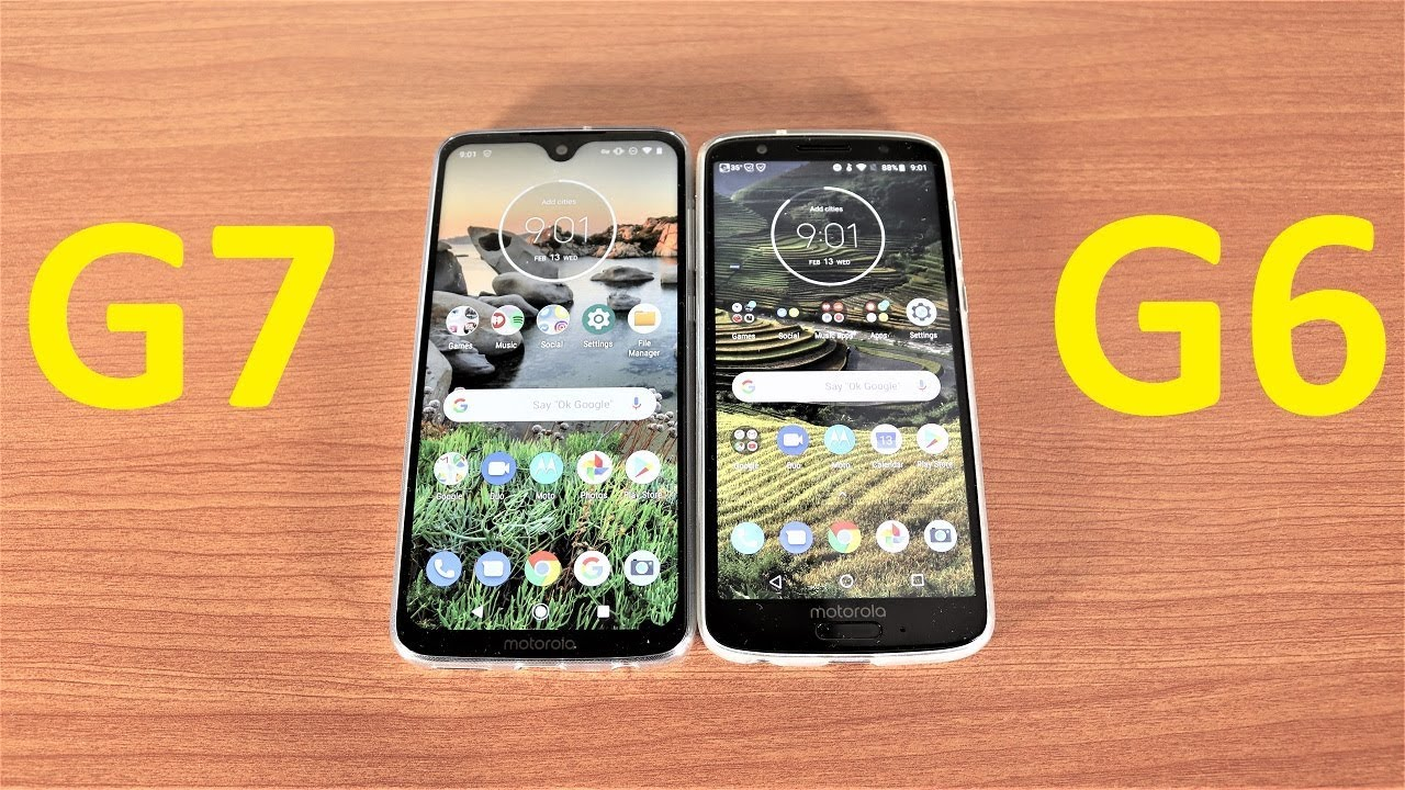 Motorola Moto G7 Vs Moto G6 Speed Test Youtube