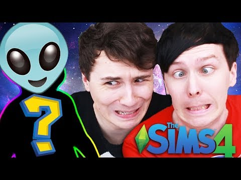OUR ALIEN BABY IS GROWING! - Dan and Phil Play: Sims 4 #44