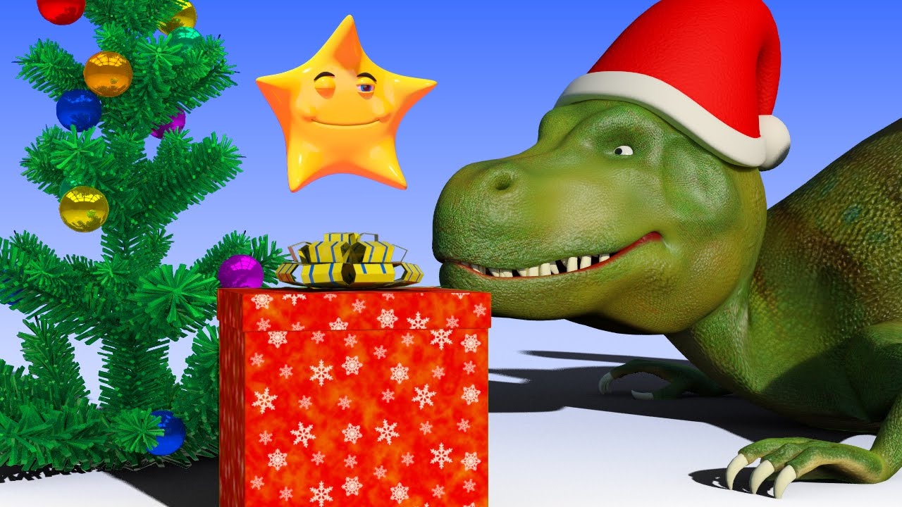 VIDS for KIDS in 3d (HD) - Dinosaur T-Rex and Christmas Gift Story ...