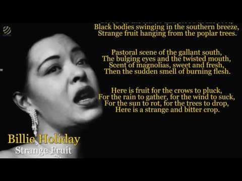 Billie Holiday - Strange fruit (lyric video) [HQ]