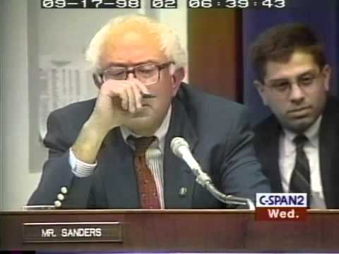 Bernie Sanders to Alan Greenspan: Alice in Wonderland Perspective (9/16/1998)