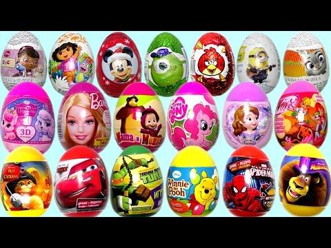 Видео для детей. Киндер Сюрприз. Ам Ням. Маша и Медведь. Surprise Eggs. Peppa Pig. Disney Princess.