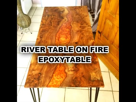 Comment Faire Une Table Riviere En Resine Et Bois Youtube
