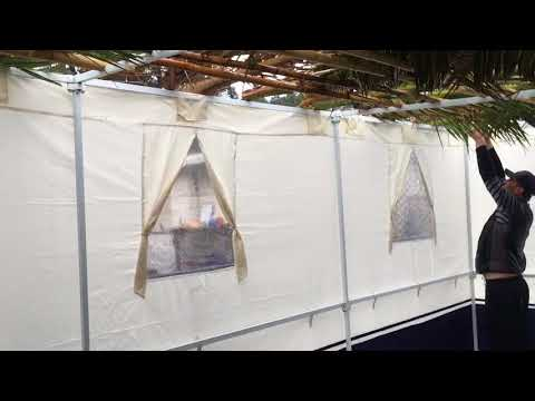 How to put together the Sukkah