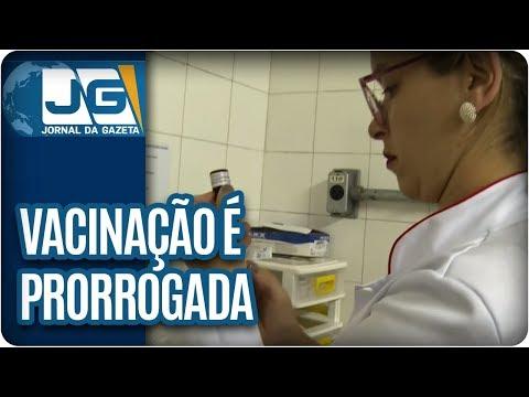 Vacinação contra febre amarela em SP é prorrogada mais uma vez
