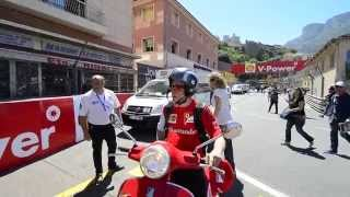 Kimi Räikkönen struggles to enter in the paddock - 2014 Monaco GP