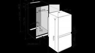 видео Размеры встроенных холодильников