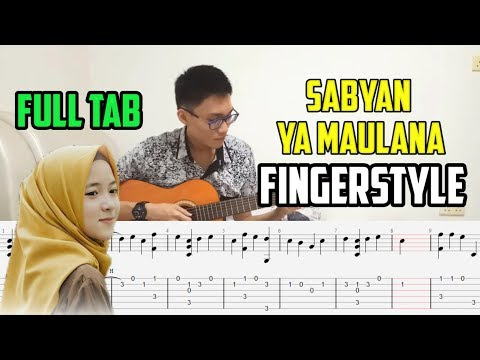 (FULL TAB) YA MAULANA - SABYAN Fingerstyle Guitar Cover By Ericko Fang