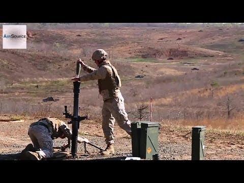 U.S. Marine Corps 81MM Mortars Demo/CFF Exercise