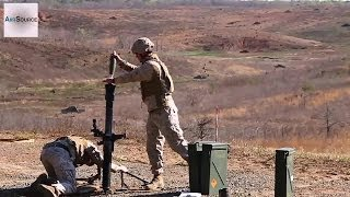 U.S. Marine Corps 81MM Mortars Demo/CFF Exercise