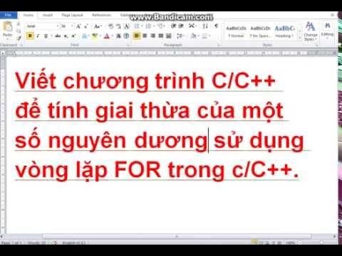 [Tự học lập trình C/C++]  Tính giai thừa bằng vòng lặp xác định trước