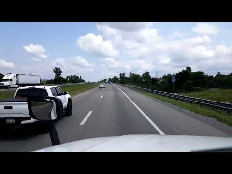 BigRigTravels LIVE! Abingdon to Fort Chiswell, Virginia Interstate 81 North - August 8, 2017