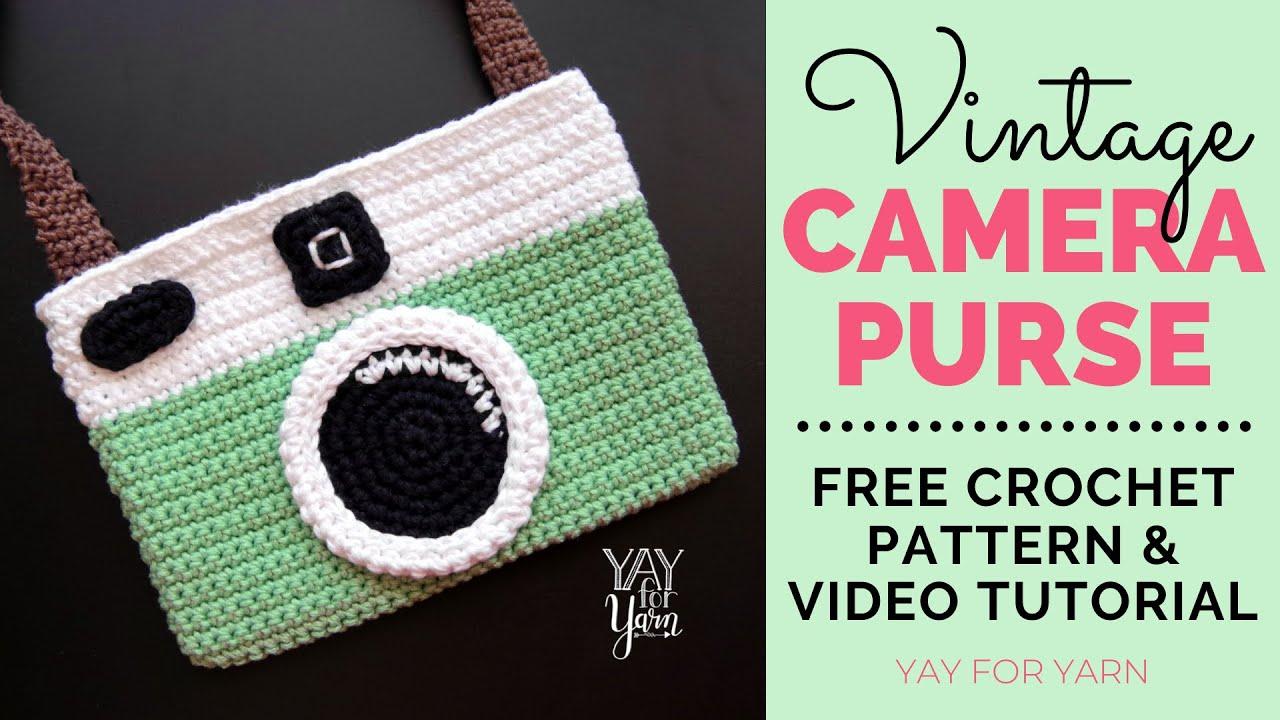 Vintage Camera Purse Free Crochet Pattern Yay For Yarn