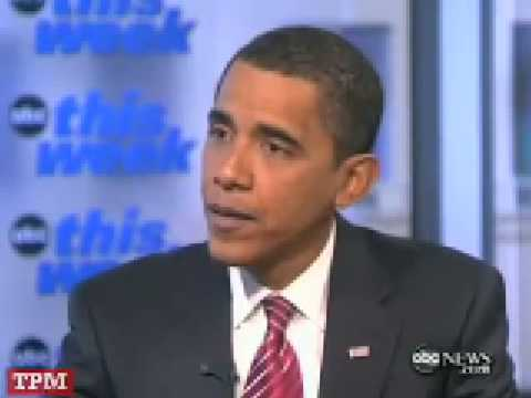 """Obama on Investigating Bush Crimes: """"Need to Look Forward"""""""